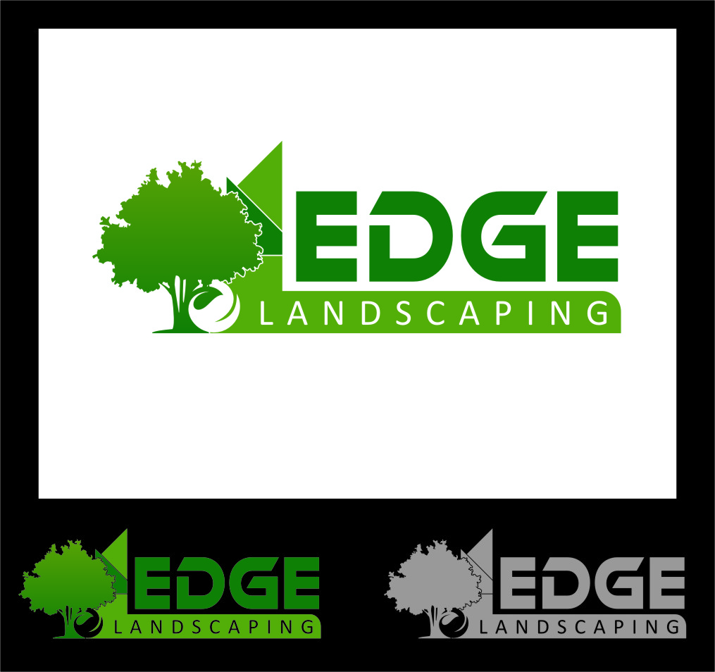 Logo Design by Ngepet_art - Entry No. 75 in the Logo Design Contest Inspiring Logo Design for Edge Landscaping.