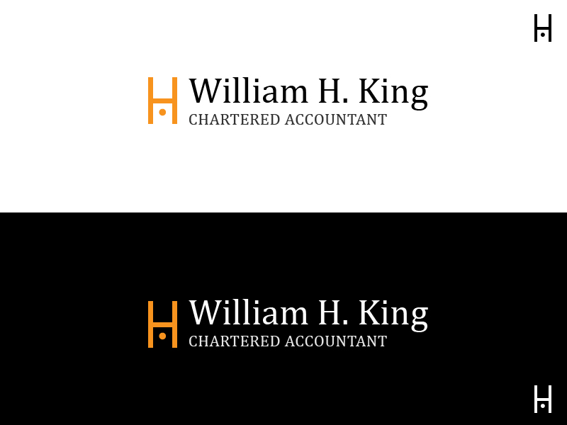Logo Design by Raviteja Govindaraju - Entry No. 12 in the Logo Design Contest New Logo Design for William H. King, Chartered Accountant.