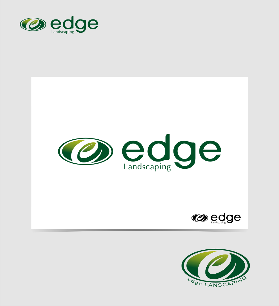 Logo Design by graphicleaf - Entry No. 79 in the Logo Design Contest Inspiring Logo Design for Edge Landscaping.