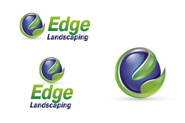 Logo Design by Private User - Entry No. 82 in the Logo Design Contest Inspiring Logo Design for Edge Landscaping.