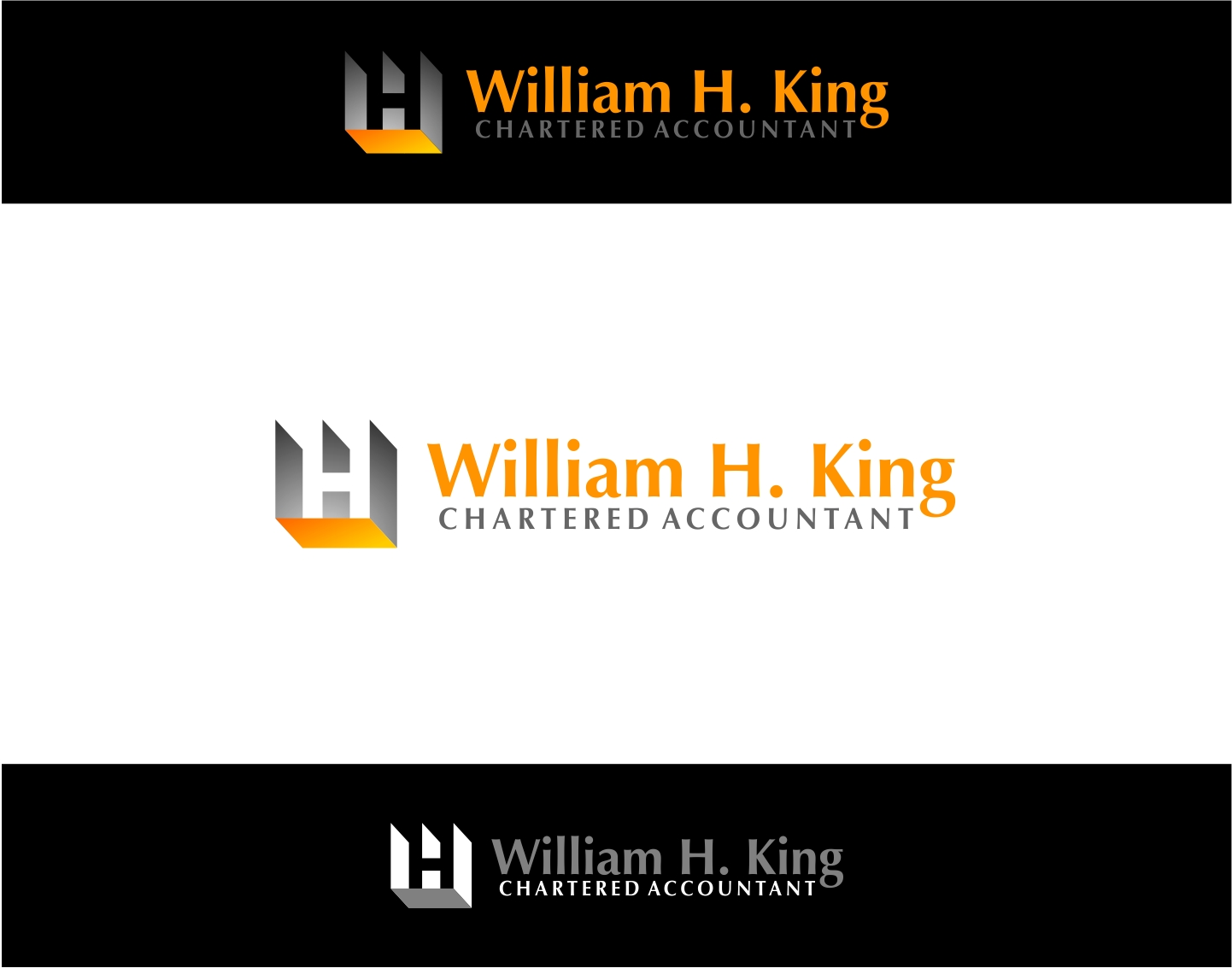 Logo Design by haidu - Entry No. 14 in the Logo Design Contest New Logo Design for William H. King, Chartered Accountant.
