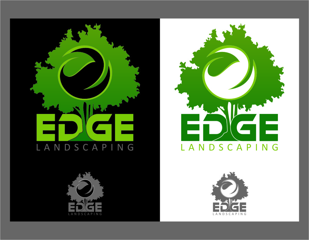 Logo Design by RasYa Muhammad Athaya - Entry No. 89 in the Logo Design Contest Inspiring Logo Design for Edge Landscaping.