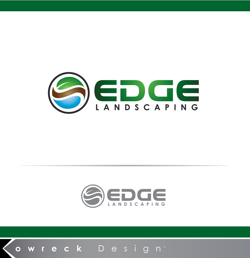 Logo Design by kowreck - Entry No. 93 in the Logo Design Contest Inspiring Logo Design for Edge Landscaping.