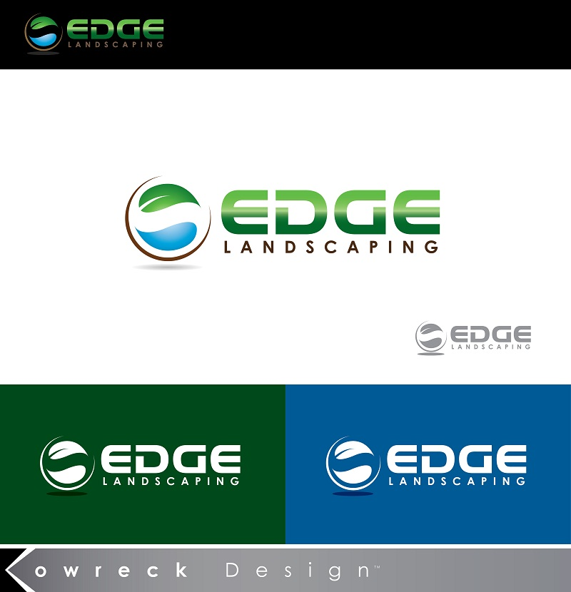 Logo Design by kowreck - Entry No. 94 in the Logo Design Contest Inspiring Logo Design for Edge Landscaping.