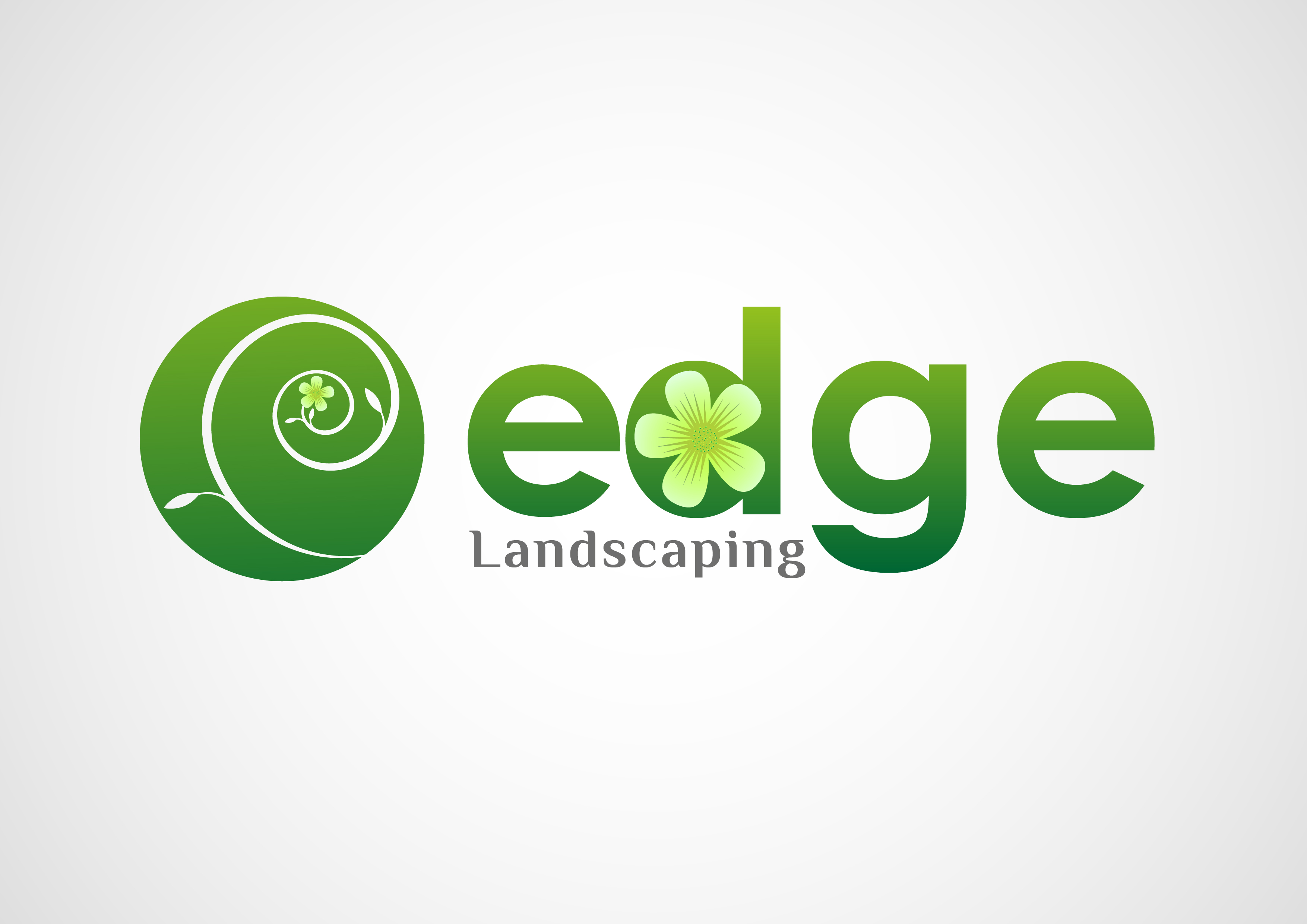 Logo Design by 3draw - Entry No. 96 in the Logo Design Contest Inspiring Logo Design for Edge Landscaping.