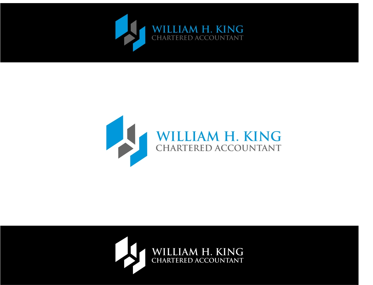 Logo Design by haidu - Entry No. 16 in the Logo Design Contest New Logo Design for William H. King, Chartered Accountant.