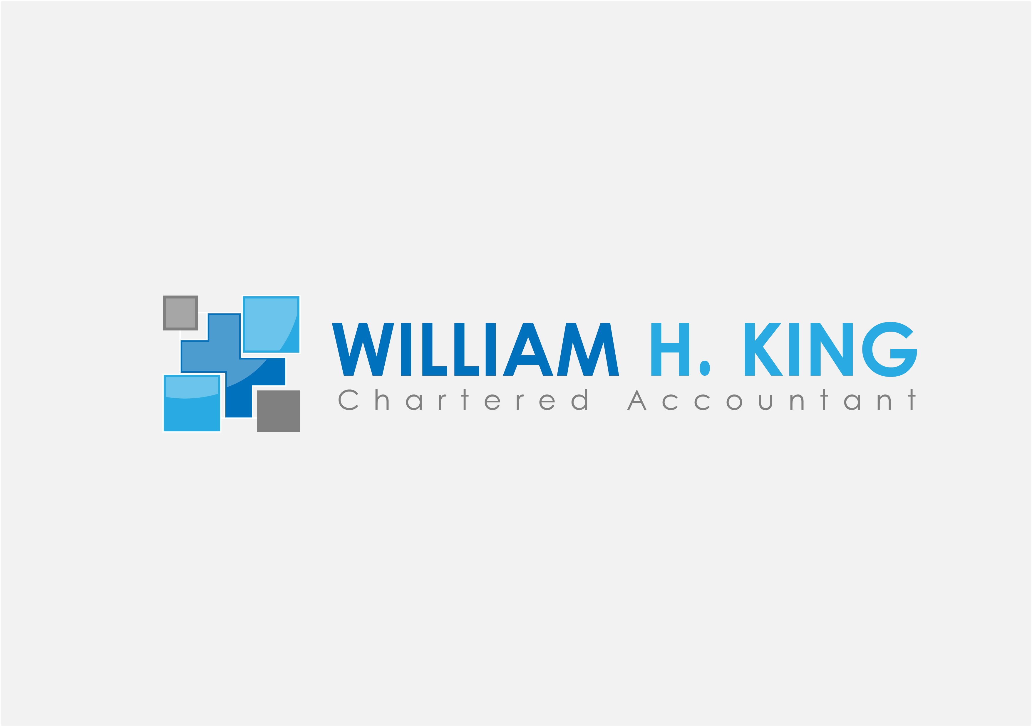 Logo Design by 3draw - Entry No. 18 in the Logo Design Contest New Logo Design for William H. King, Chartered Accountant.