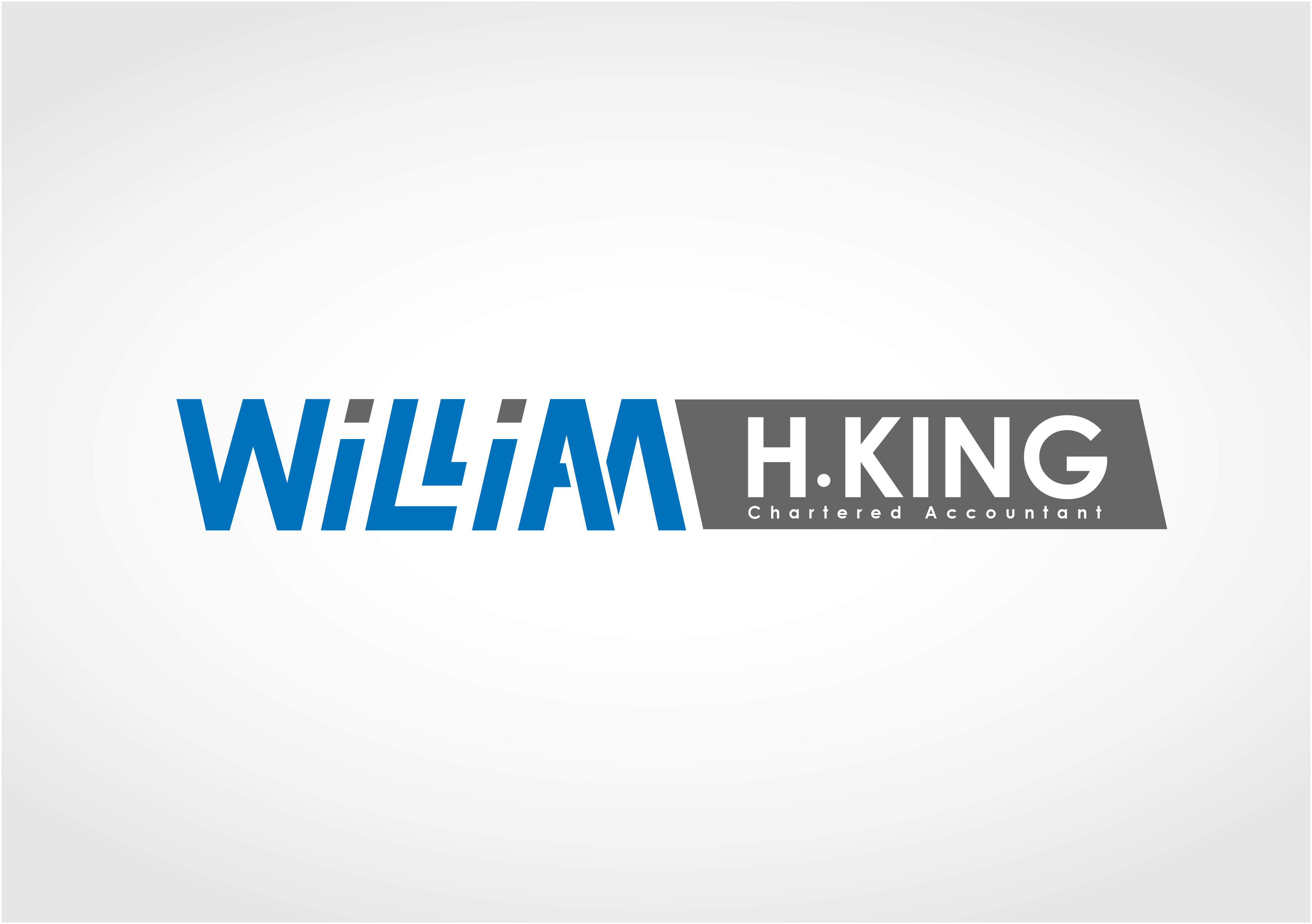 Logo Design by 3draw - Entry No. 19 in the Logo Design Contest New Logo Design for William H. King, Chartered Accountant.