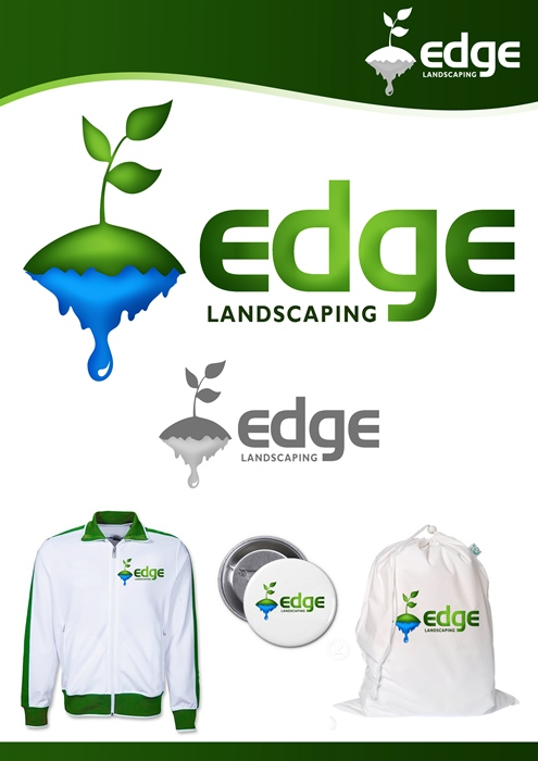 Logo Design by Respati Himawan - Entry No. 104 in the Logo Design Contest Inspiring Logo Design for Edge Landscaping.