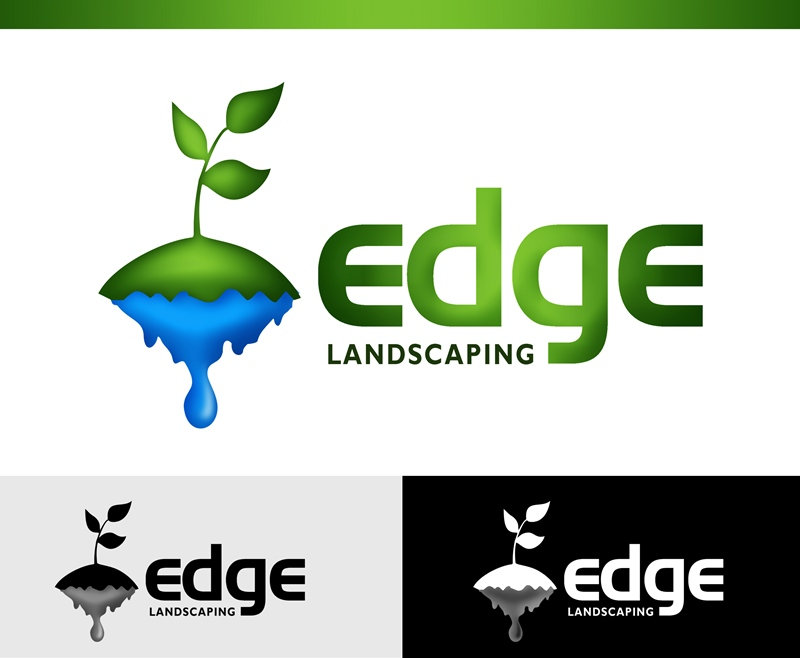 Logo Design by Respati Himawan - Entry No. 105 in the Logo Design Contest Inspiring Logo Design for Edge Landscaping.