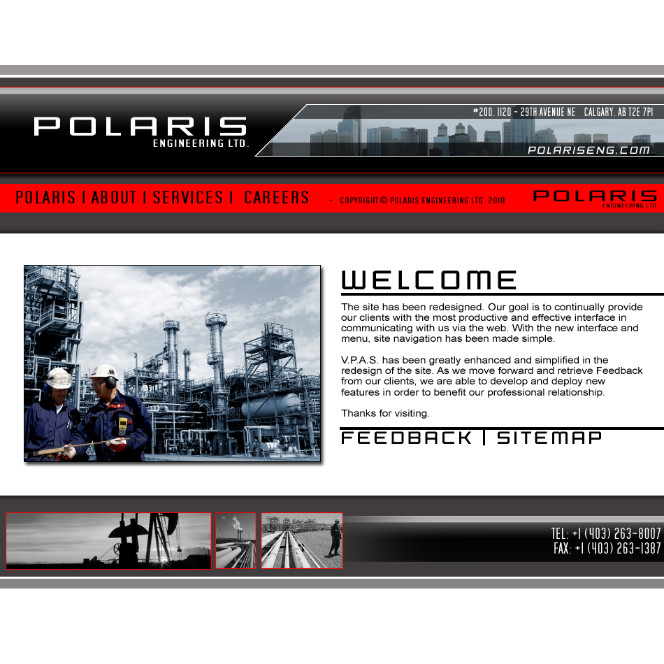 Web Page Design by ImFrancis - Entry No. 8 in the Web Page Design Contest Polaris Engineering Ltd. requires a new re-branded landing p.