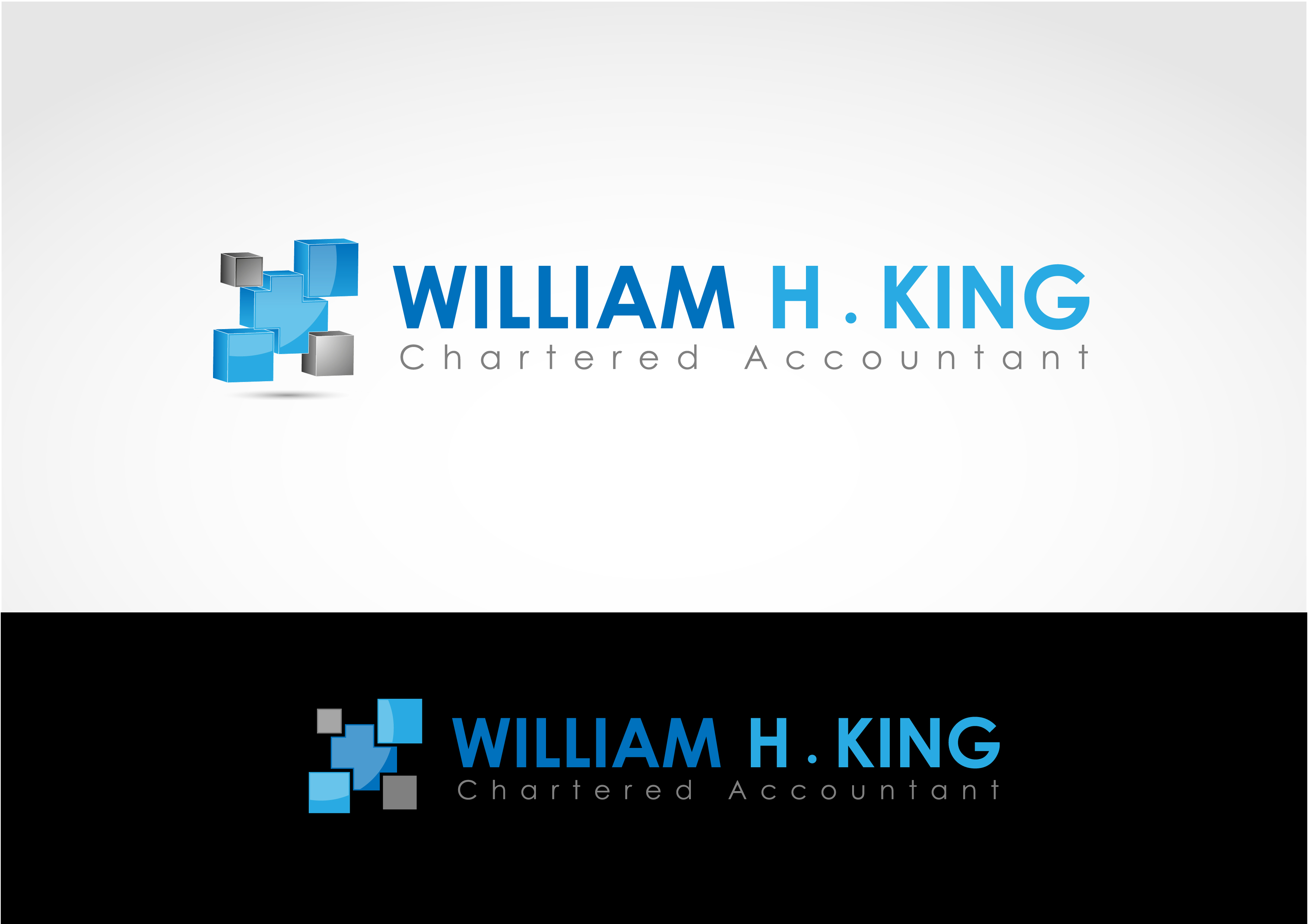 Logo Design by 3draw - Entry No. 21 in the Logo Design Contest New Logo Design for William H. King, Chartered Accountant.