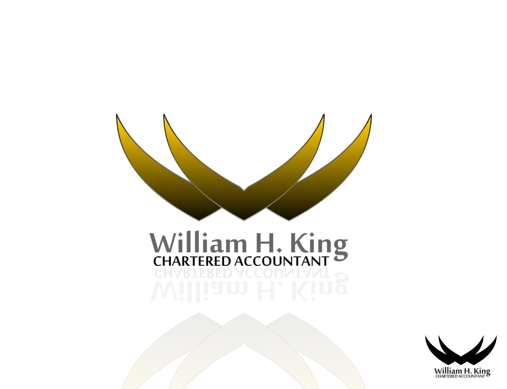 Logo Design by Digamber singh Bohra - Entry No. 22 in the Logo Design Contest New Logo Design for William H. King, Chartered Accountant.