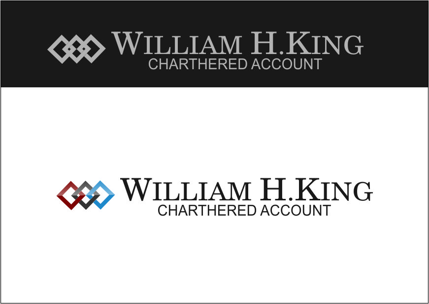 Logo Design by Agus Martoyo - Entry No. 26 in the Logo Design Contest New Logo Design for William H. King, Chartered Accountant.