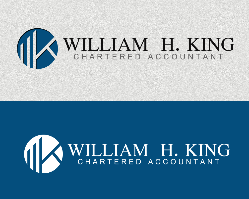 Logo Design by Private User - Entry No. 29 in the Logo Design Contest New Logo Design for William H. King, Chartered Accountant.