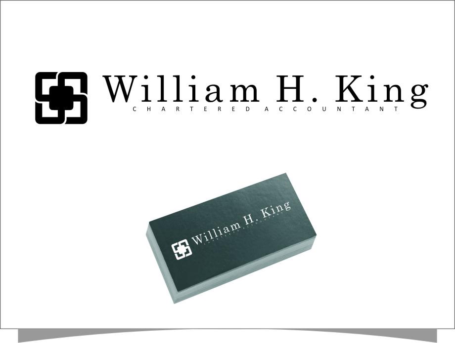 Logo Design by RasYa Muhammad Athaya - Entry No. 36 in the Logo Design Contest New Logo Design for William H. King, Chartered Accountant.