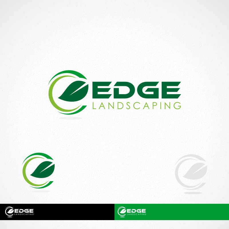 Logo Design by Private User - Entry No. 135 in the Logo Design Contest Inspiring Logo Design for Edge Landscaping.