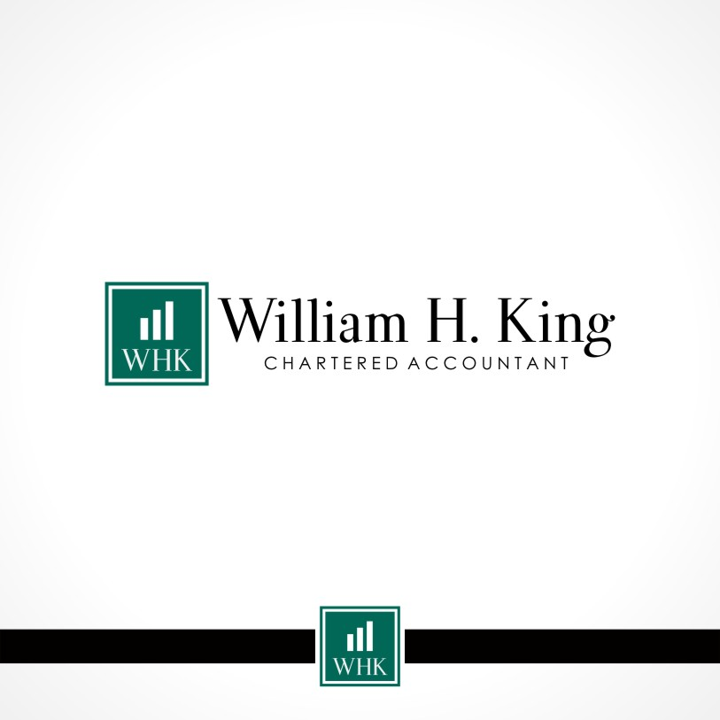 Logo Design by Private User - Entry No. 41 in the Logo Design Contest New Logo Design for William H. King, Chartered Accountant.
