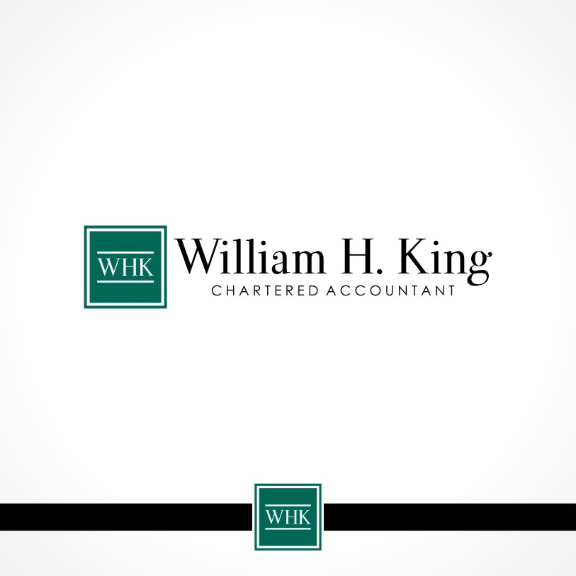 Logo Design by Private User - Entry No. 43 in the Logo Design Contest New Logo Design for William H. King, Chartered Accountant.