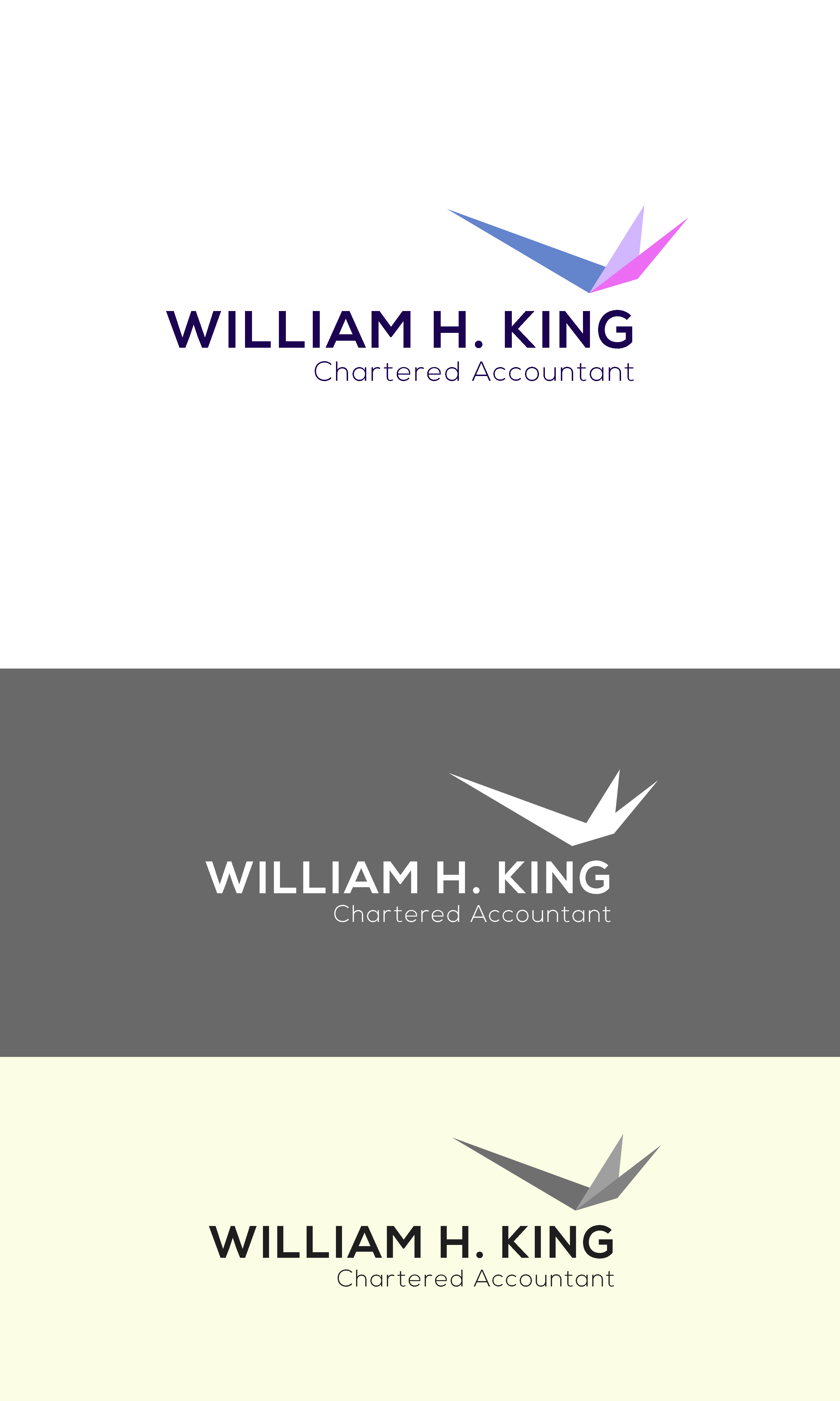 Logo Design by Private User - Entry No. 44 in the Logo Design Contest New Logo Design for William H. King, Chartered Accountant.