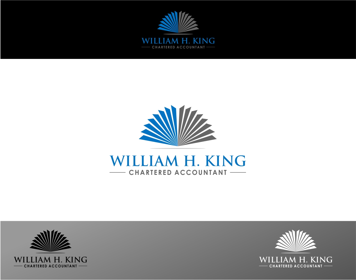 Logo Design by haidu - Entry No. 49 in the Logo Design Contest New Logo Design for William H. King, Chartered Accountant.