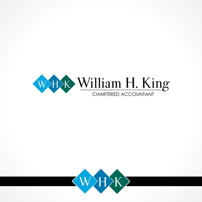Logo Design by Private User - Entry No. 54 in the Logo Design Contest New Logo Design for William H. King, Chartered Accountant.