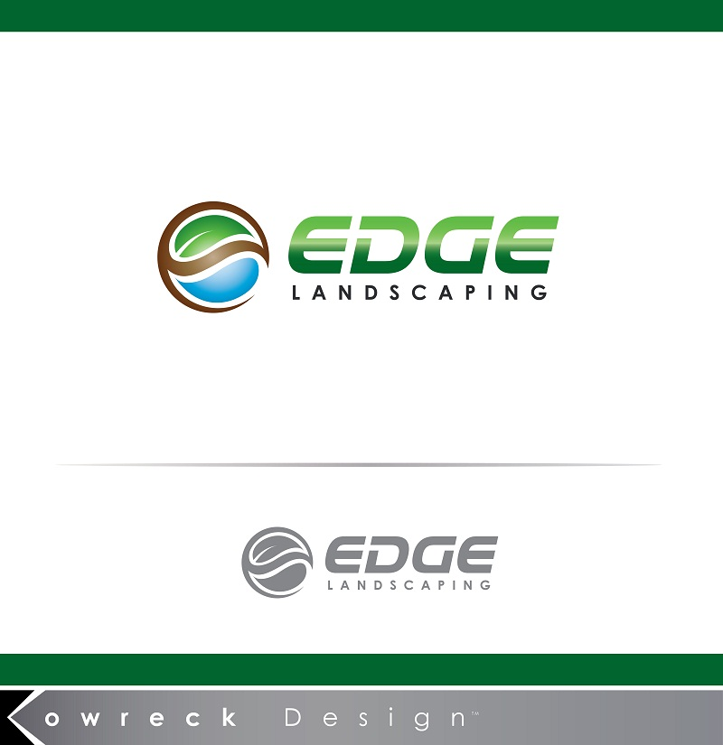 Logo Design by kowreck - Entry No. 141 in the Logo Design Contest Inspiring Logo Design for Edge Landscaping.