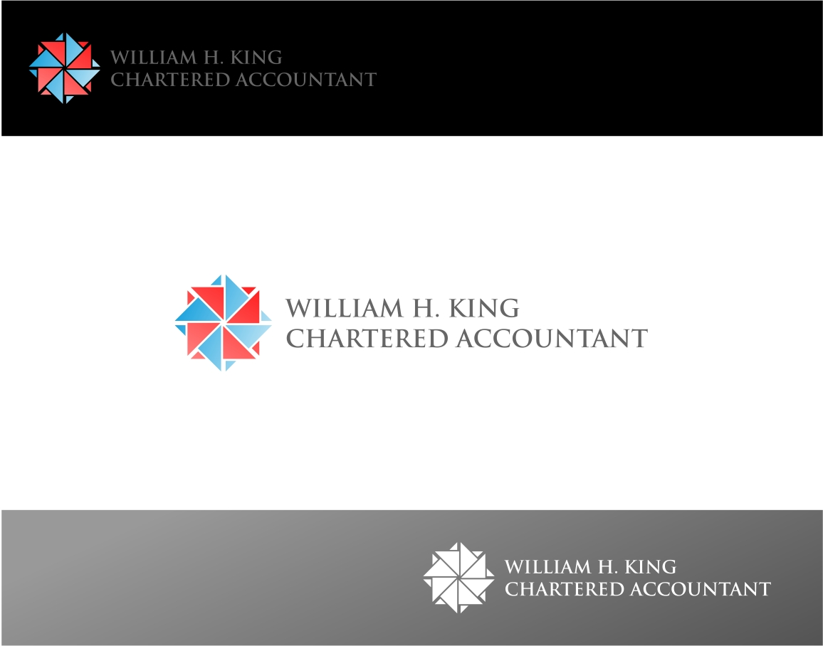 Logo Design by haidu - Entry No. 56 in the Logo Design Contest New Logo Design for William H. King, Chartered Accountant.