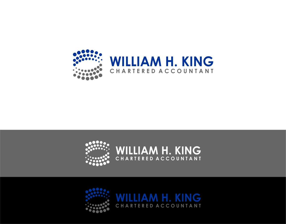 Logo Design by haidu - Entry No. 57 in the Logo Design Contest New Logo Design for William H. King, Chartered Accountant.