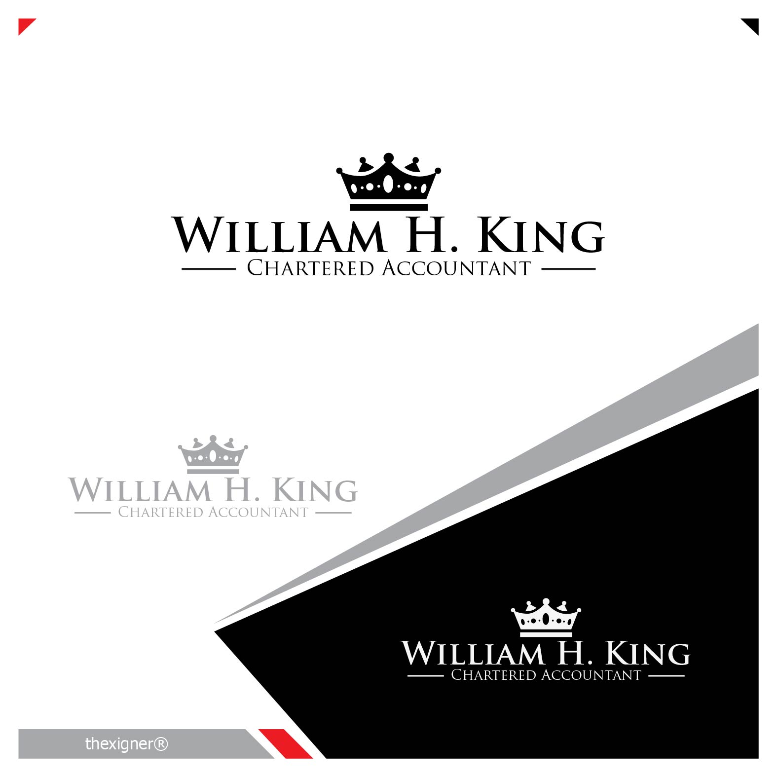 Logo Design by lagalag - Entry No. 60 in the Logo Design Contest New Logo Design for William H. King, Chartered Accountant.