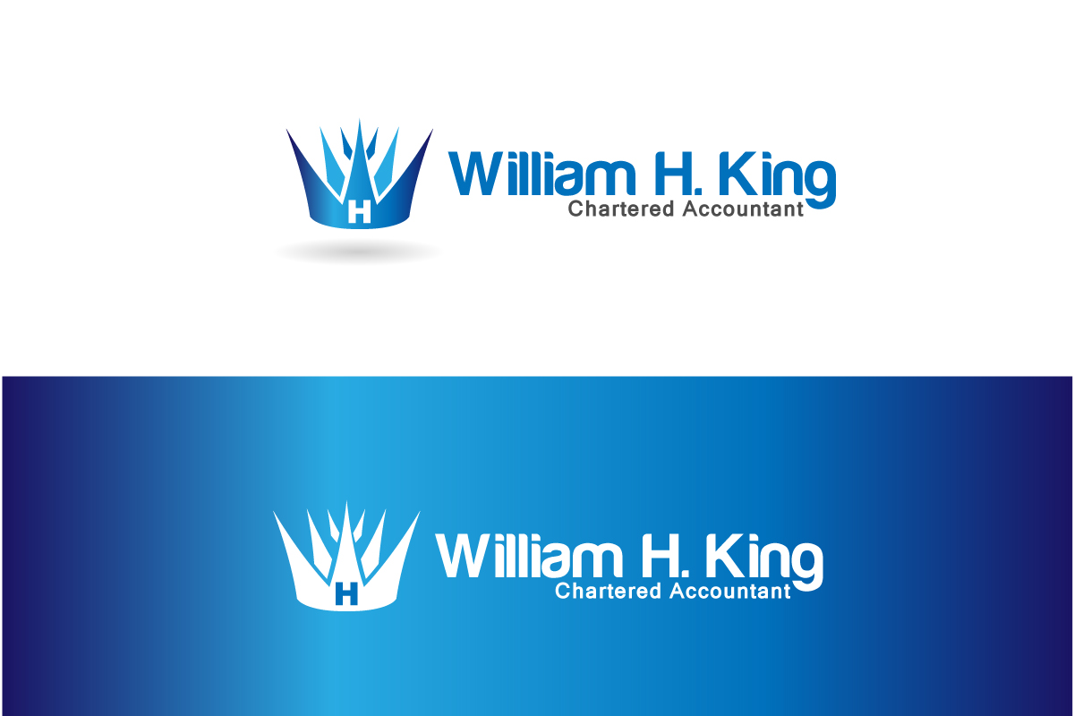 Logo Design by Jagdeep Singh - Entry No. 61 in the Logo Design Contest New Logo Design for William H. King, Chartered Accountant.
