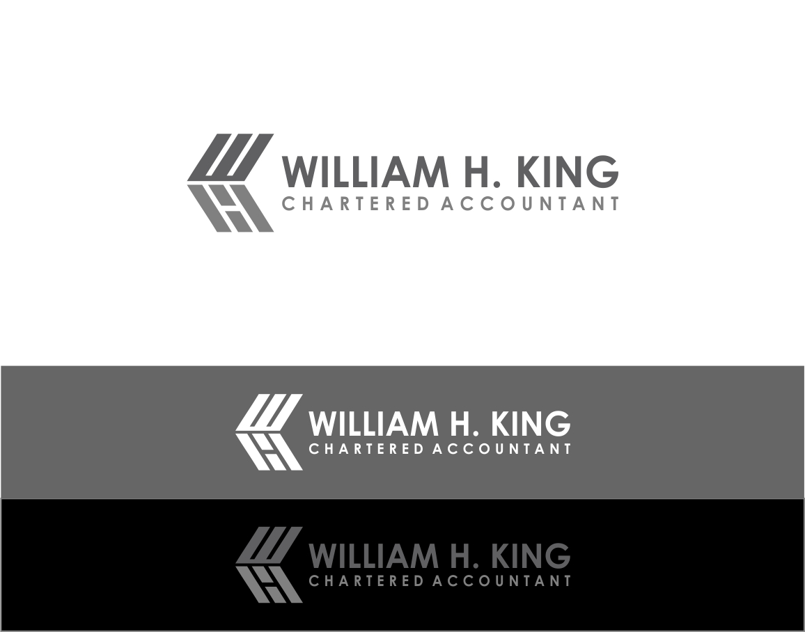 Logo Design by haidu - Entry No. 62 in the Logo Design Contest New Logo Design for William H. King, Chartered Accountant.
