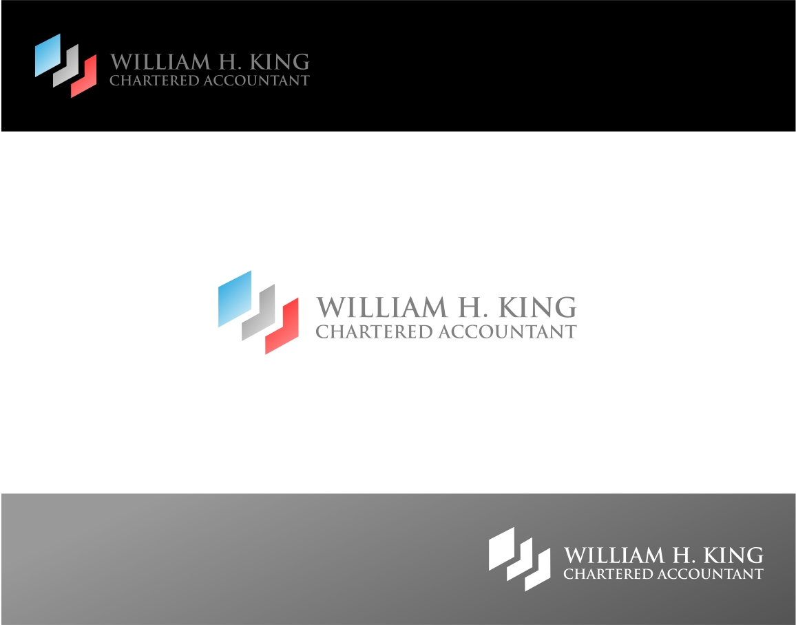 Logo Design by haidu - Entry No. 64 in the Logo Design Contest New Logo Design for William H. King, Chartered Accountant.
