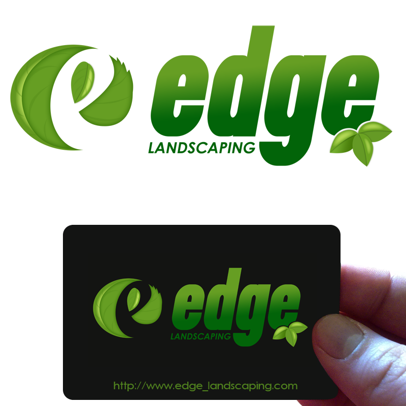 Logo Design by Private User - Entry No. 142 in the Logo Design Contest Inspiring Logo Design for Edge Landscaping.