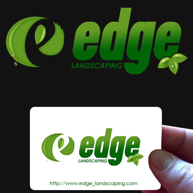 Logo Design by Private User - Entry No. 145 in the Logo Design Contest Inspiring Logo Design for Edge Landscaping.