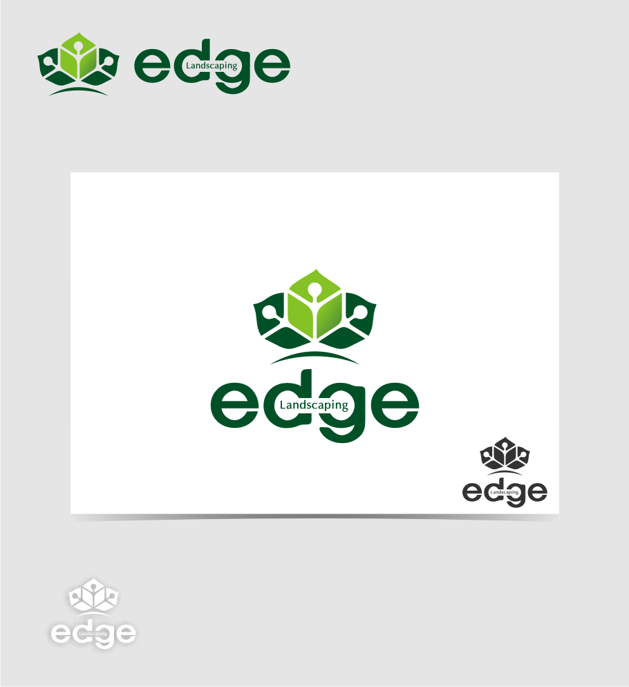 Logo Design by graphicleaf - Entry No. 147 in the Logo Design Contest Inspiring Logo Design for Edge Landscaping.
