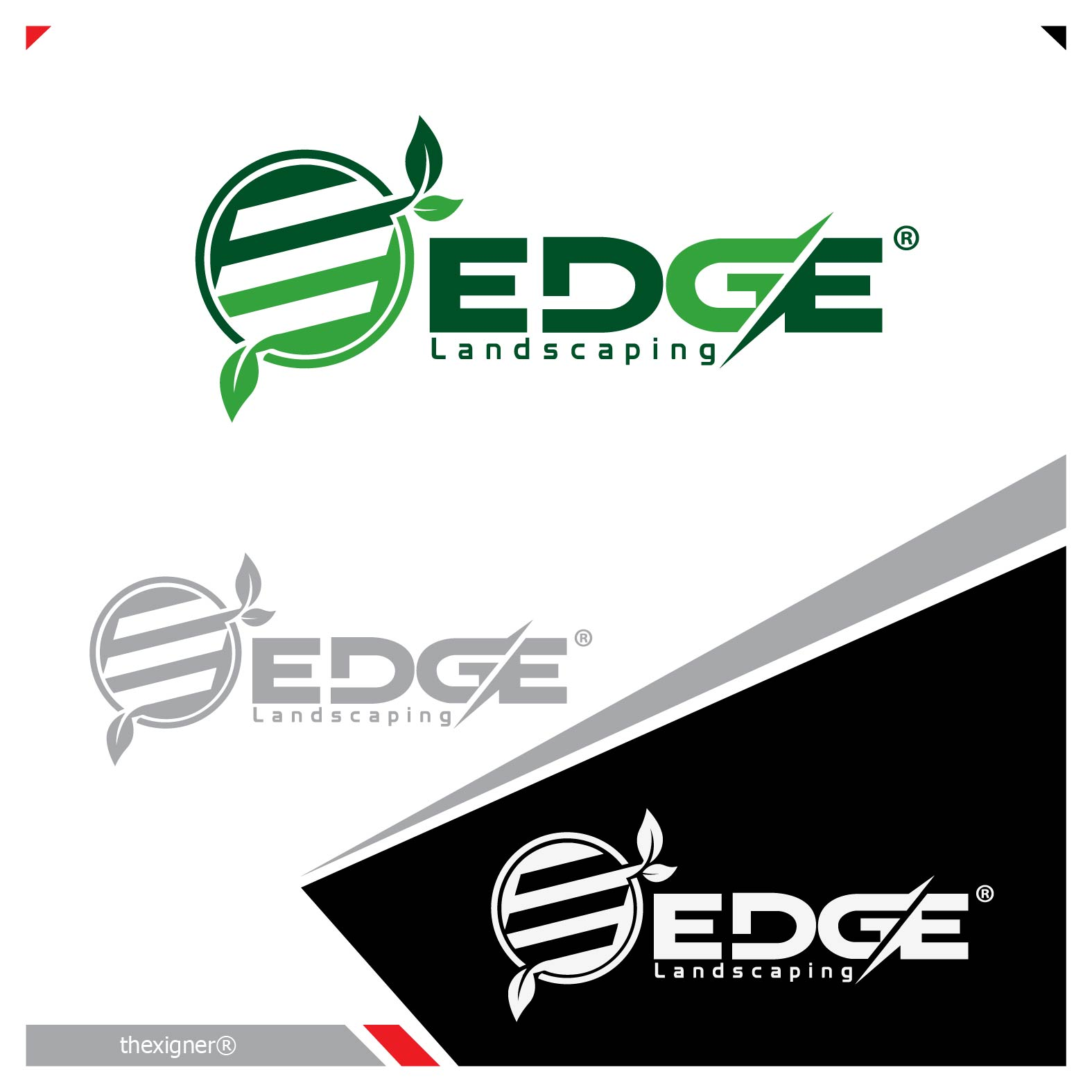 Logo Design by lagalag - Entry No. 148 in the Logo Design Contest Inspiring Logo Design for Edge Landscaping.