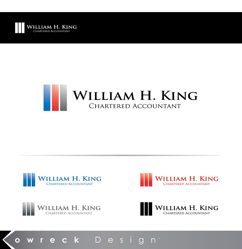 Logo Design by kowreck - Entry No. 67 in the Logo Design Contest New Logo Design for William H. King, Chartered Accountant.