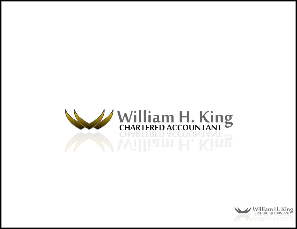 Logo Design by Digamber singh Bohra - Entry No. 71 in the Logo Design Contest New Logo Design for William H. King, Chartered Accountant.