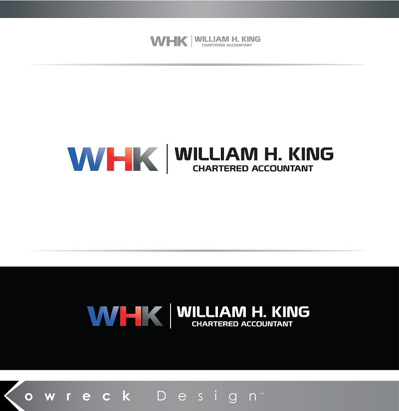 Logo Design by kowreck - Entry No. 75 in the Logo Design Contest New Logo Design for William H. King, Chartered Accountant.