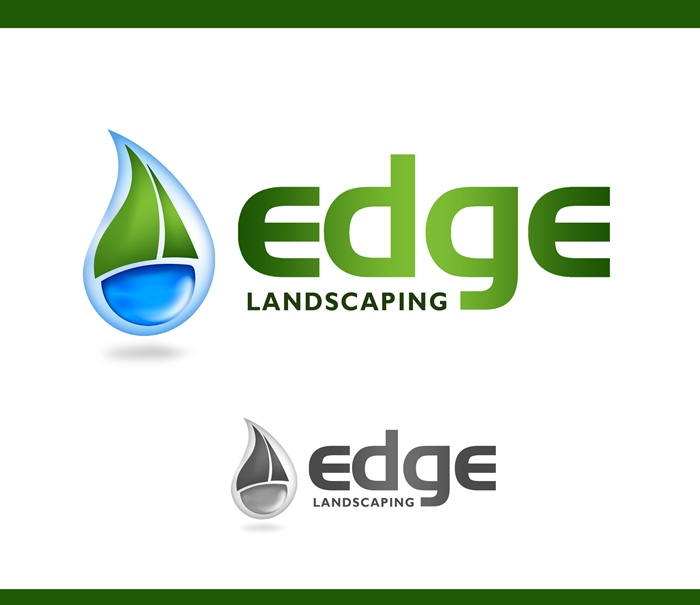 Logo Design by Respati Himawan - Entry No. 160 in the Logo Design Contest Inspiring Logo Design for Edge Landscaping.