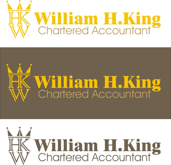 Logo Design by Korsunov Oleg - Entry No. 80 in the Logo Design Contest New Logo Design for William H. King, Chartered Accountant.