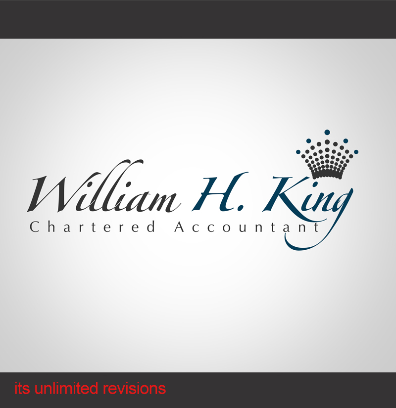 Logo Design by ahmed_nofal - Entry No. 81 in the Logo Design Contest New Logo Design for William H. King, Chartered Accountant.