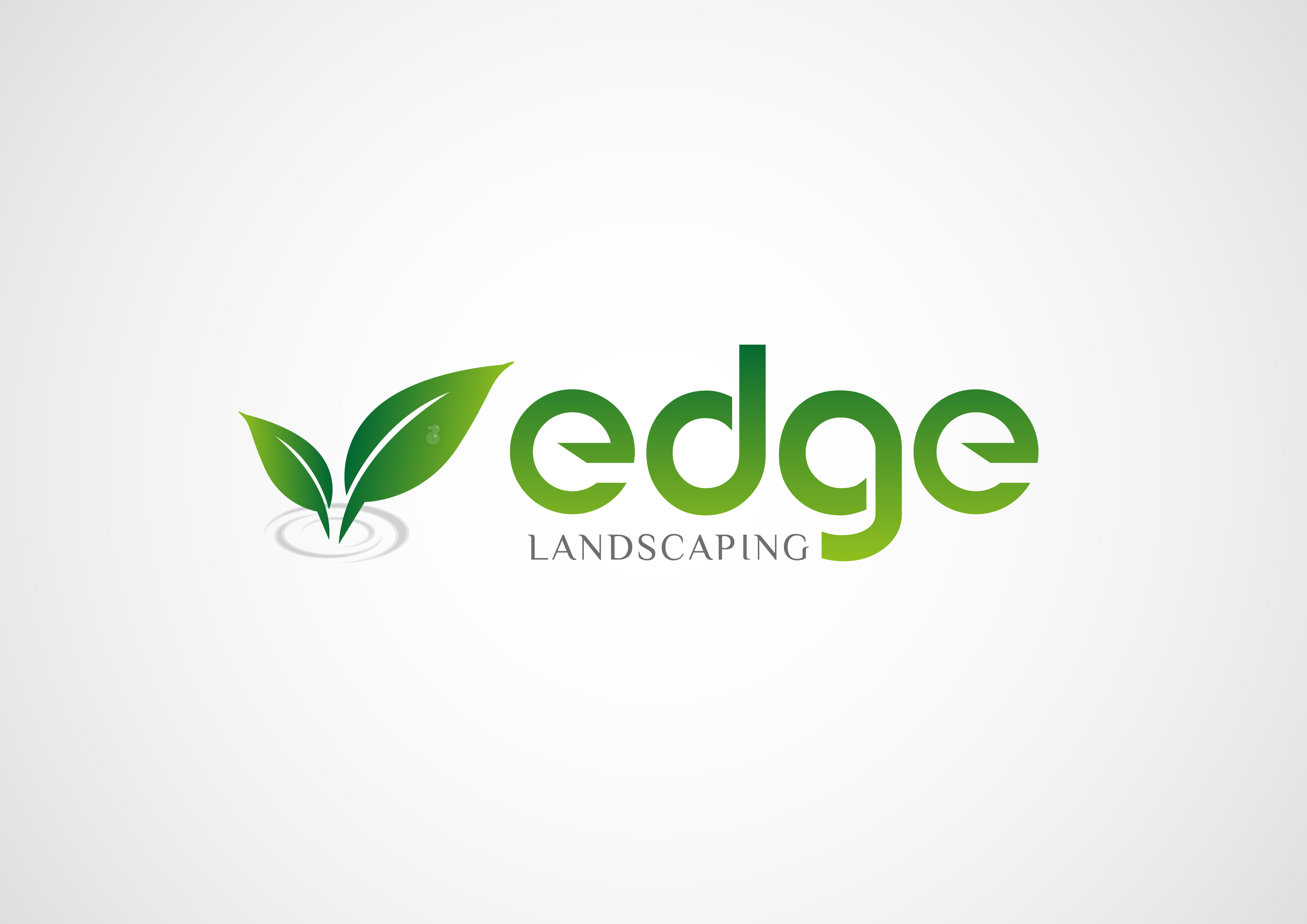 Logo Design by 3draw - Entry No. 164 in the Logo Design Contest Inspiring Logo Design for Edge Landscaping.