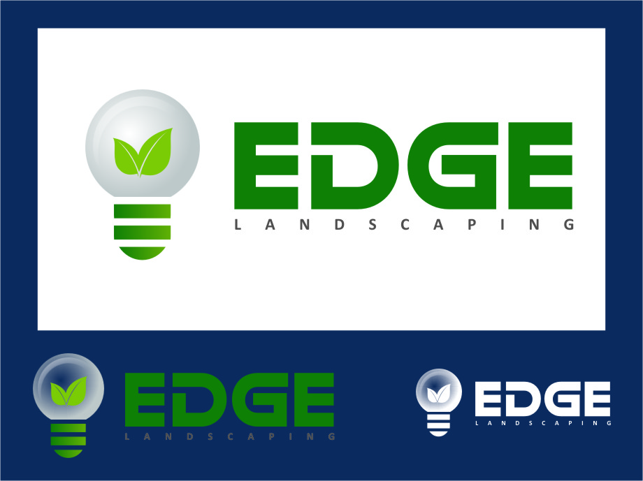 Logo Design by RoSyid Rono-Rene On Java - Entry No. 166 in the Logo Design Contest Inspiring Logo Design for Edge Landscaping.