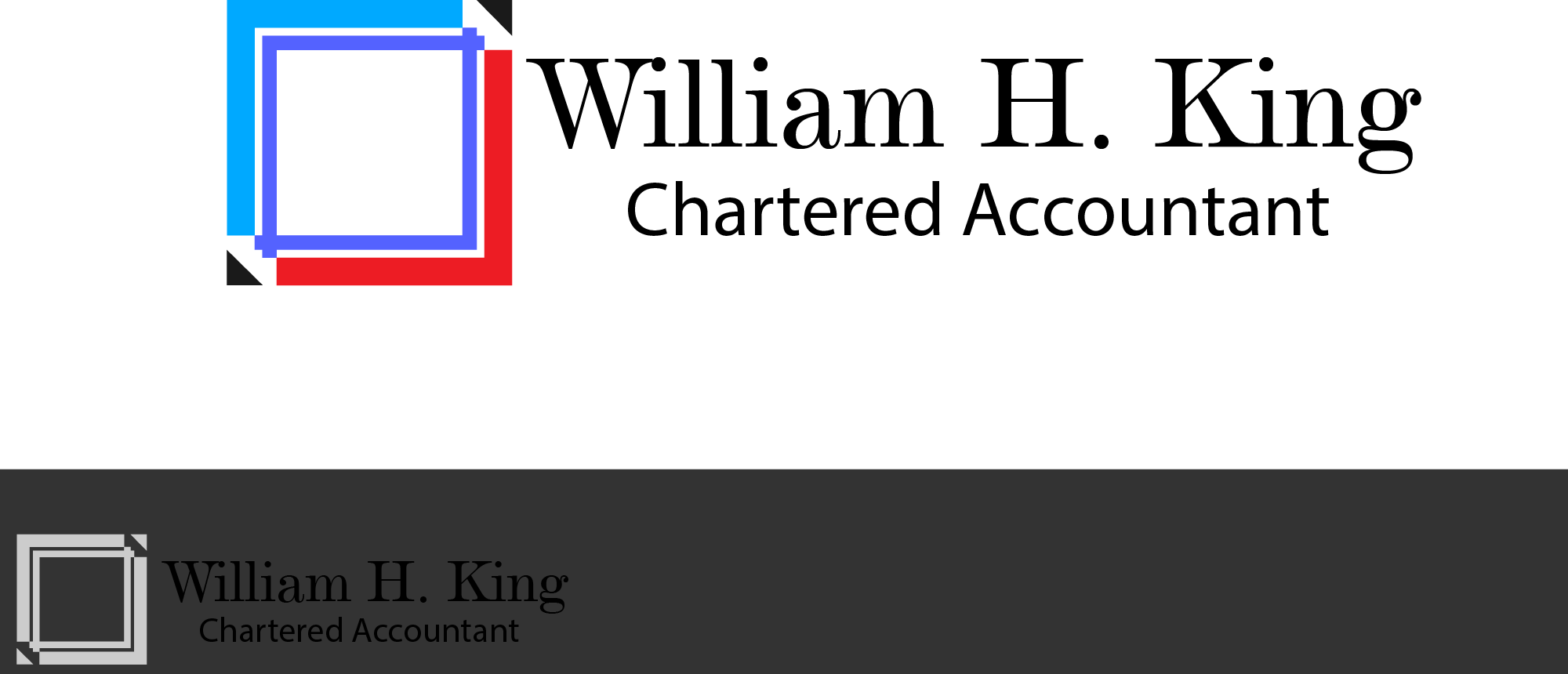 Logo Design by Private User - Entry No. 82 in the Logo Design Contest New Logo Design for William H. King, Chartered Accountant.