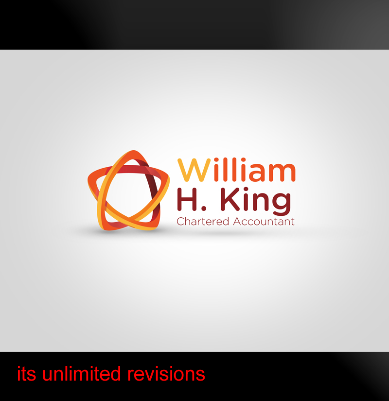 Logo Design by ahmed_nofal - Entry No. 84 in the Logo Design Contest New Logo Design for William H. King, Chartered Accountant.