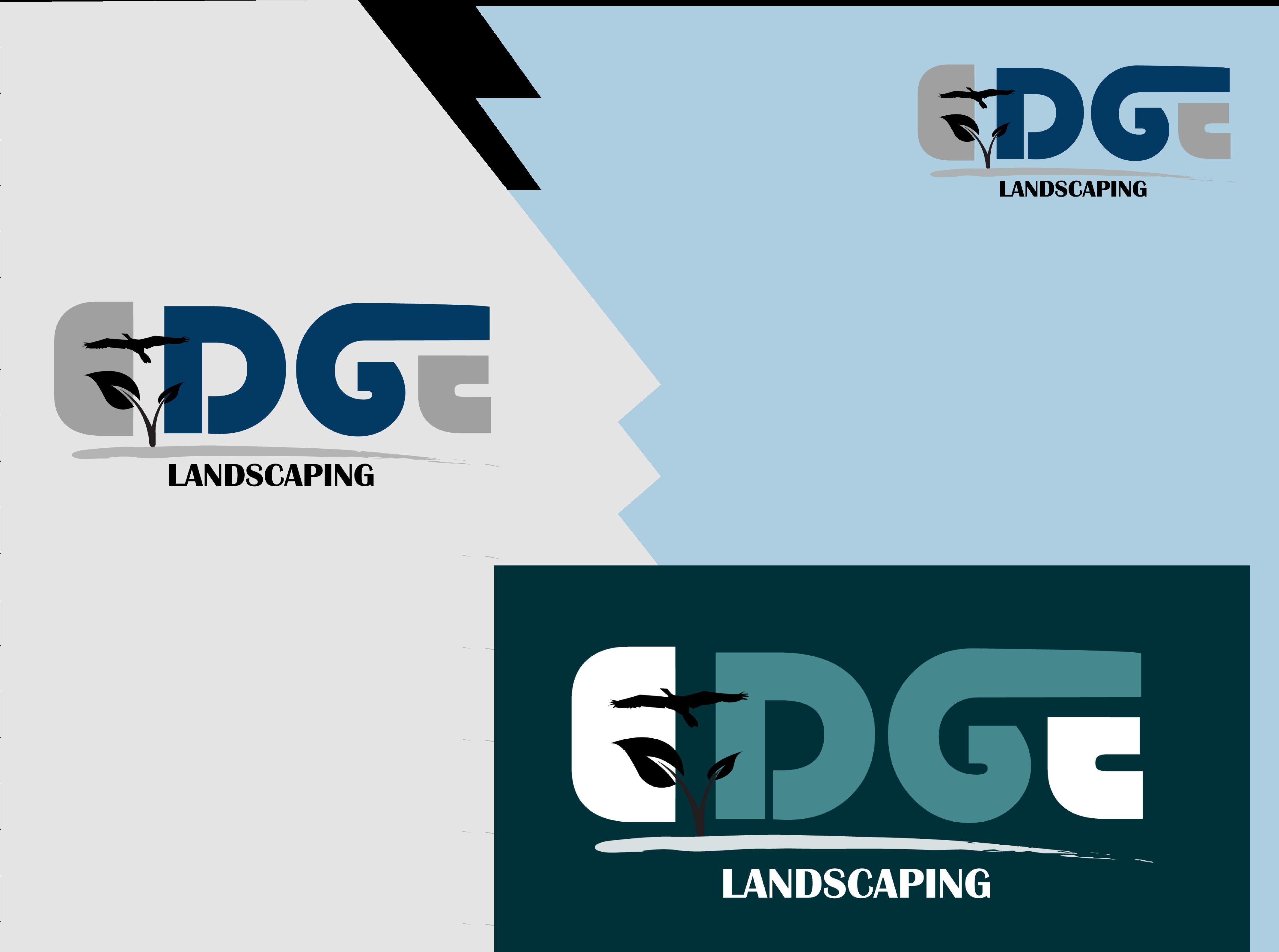 Logo Design by Saqib Hashmi - Entry No. 169 in the Logo Design Contest Inspiring Logo Design for Edge Landscaping.