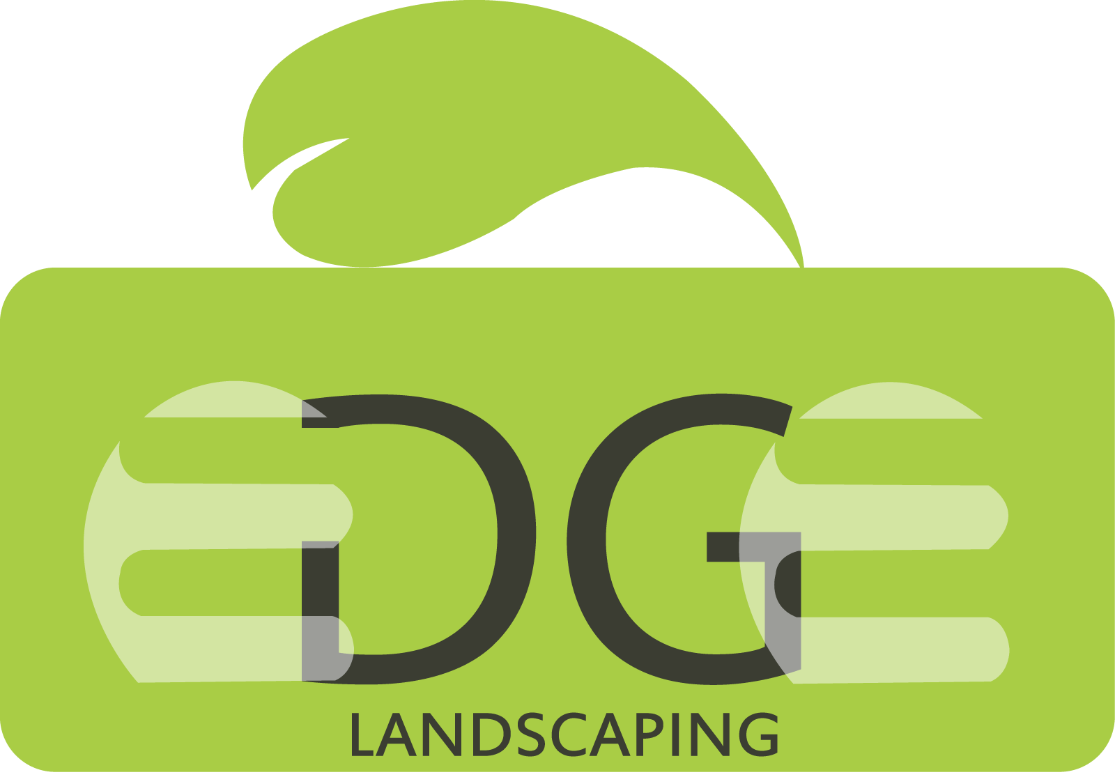 Logo Design by Saqib Hashmi - Entry No. 171 in the Logo Design Contest Inspiring Logo Design for Edge Landscaping.