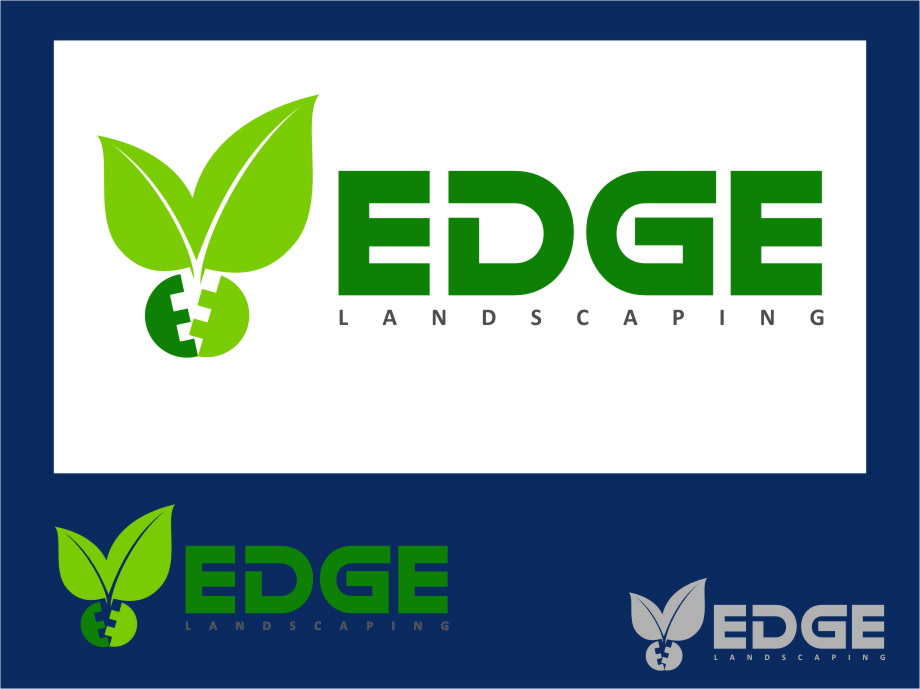 Logo Design by Ngepet_art - Entry No. 174 in the Logo Design Contest Inspiring Logo Design for Edge Landscaping.